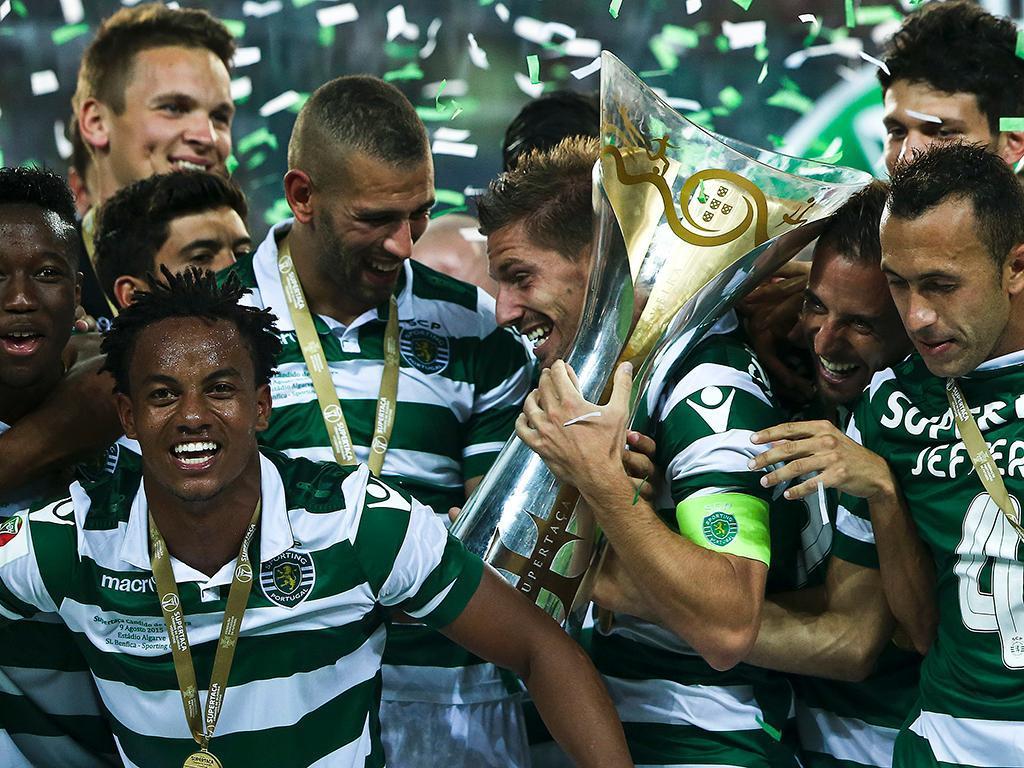 Supertaça: a festa do Sporting (LUSA/ José Sena Goulão)