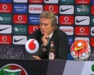 Como reagiu Jorge Jesus aos assobios dos adeptos do Benfica?