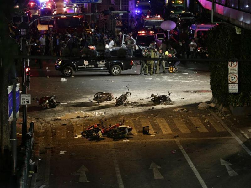 Explosão em Banguecoque [Foto: EPA]