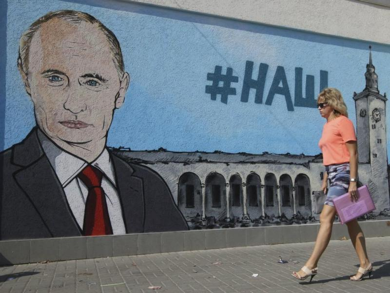 Grafítis de Putin na Crimeia (Reuters/Pavel Rebrov)