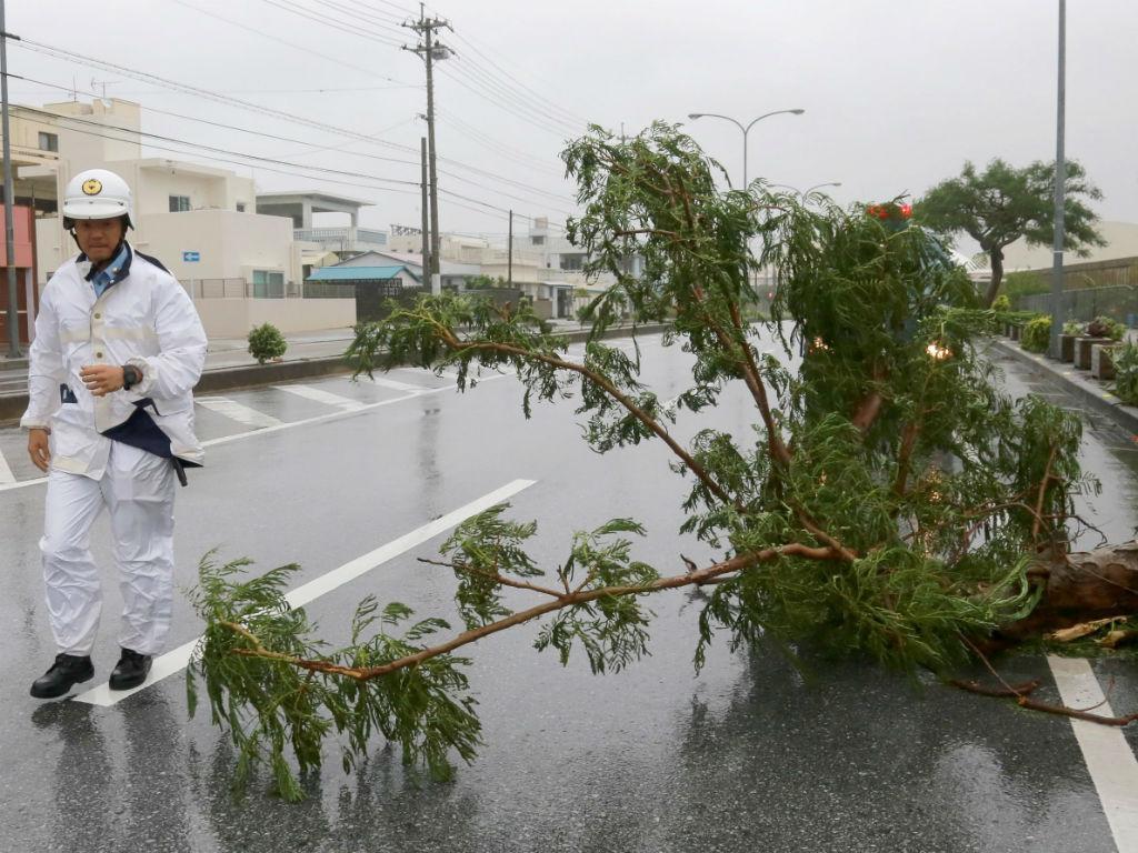 Tufão Goni já faz estragos no Japão (Lusa/EPA)