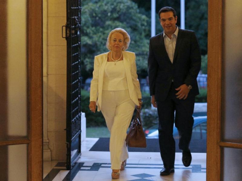 Vassiliki Thanou toma posse como nova primeira-ministra da Grécia (Reuters/Alkis Konstantinidis)