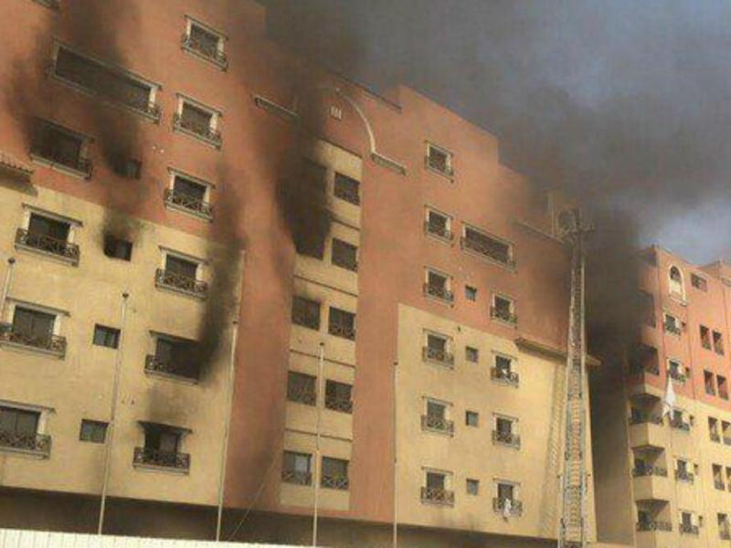 Incêndio em edifício da petrolífera Saudi Aramco [Twitter]