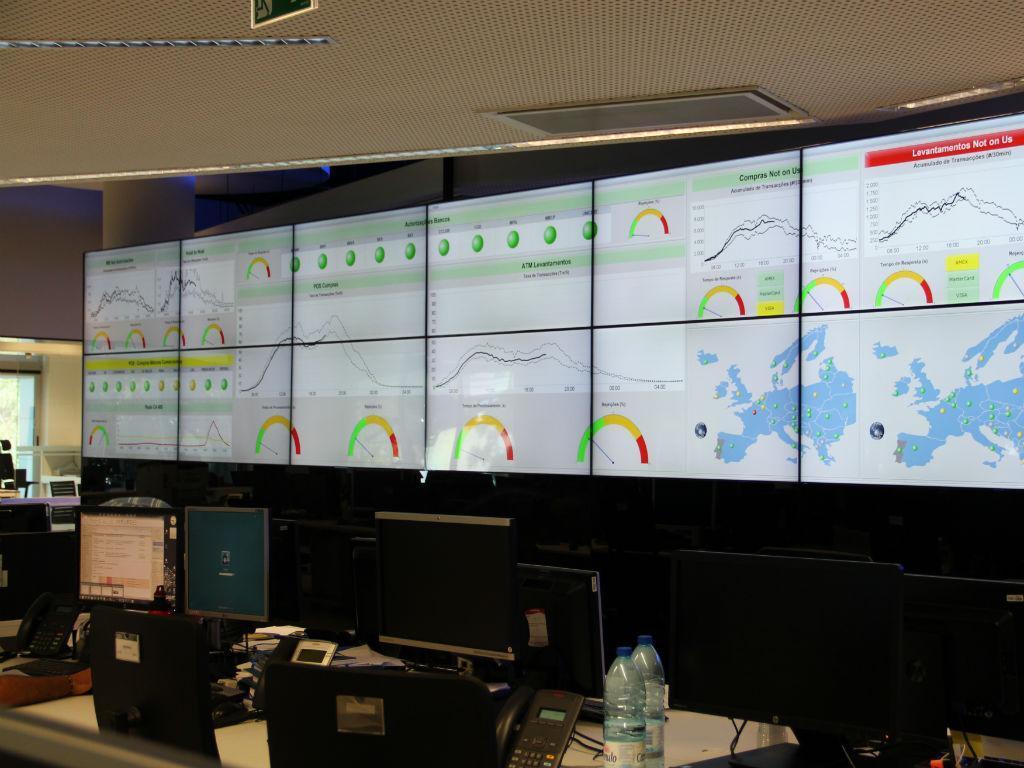 Centro de controlo operacional da rede multibanco [Fotos: Susana Bento Ramos/Jornalista TVI]