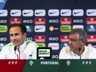Fernando Santos e Ricardo Carvalho em conferência