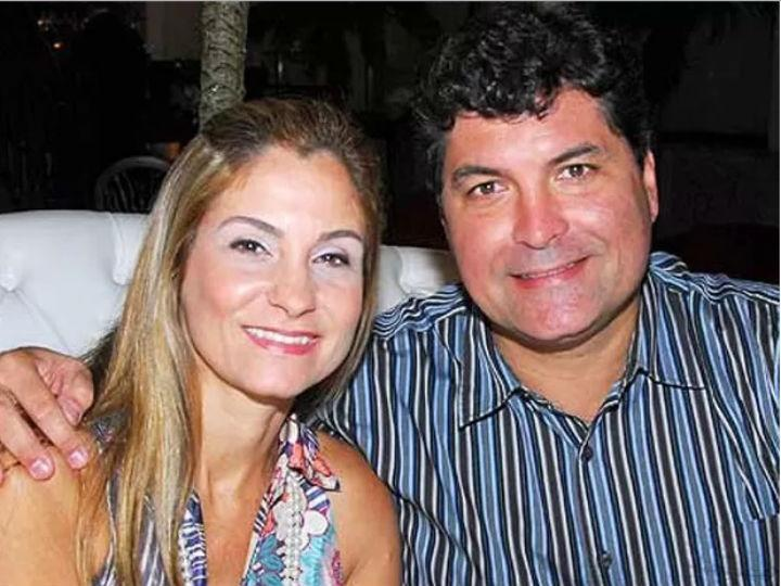 Ana Lúcia Neves com o marido, Sávio Neves [Foto: Facebook]