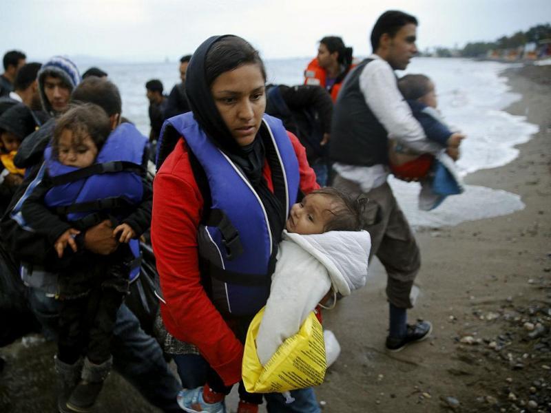 Imigrantes afegãos chegão à costa da ilha grega de Kos - Maio de 2015 (REUTERS/Yannis Behrakis)