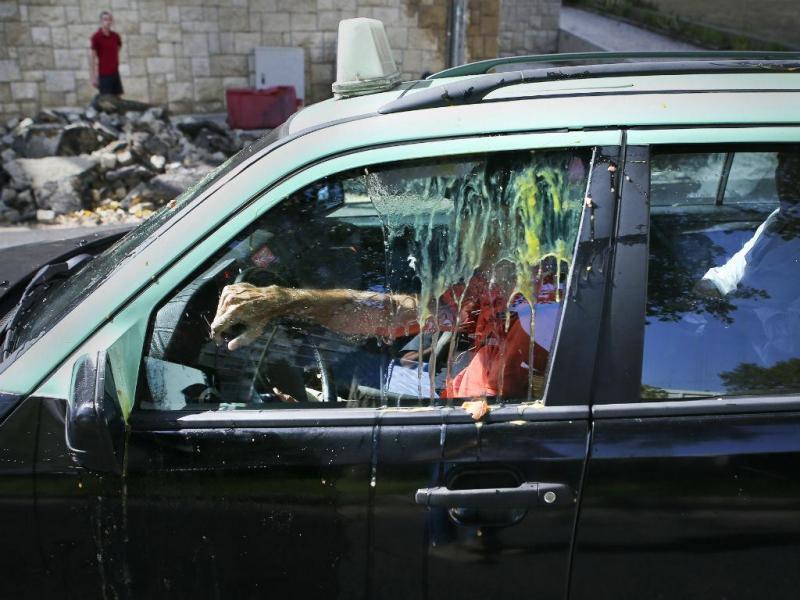 Confrontos entre taxistas em Lisboa (MÁRIO CRUZ/LUSA)