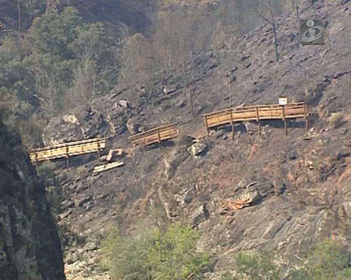 Arouca: arderam 600 metros do passadiço sobre o rio Paiva