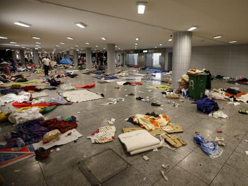 Estação de Keleti, em Budapeste, Hungria, após a partida dos migrantes e refugiados (Reuters)