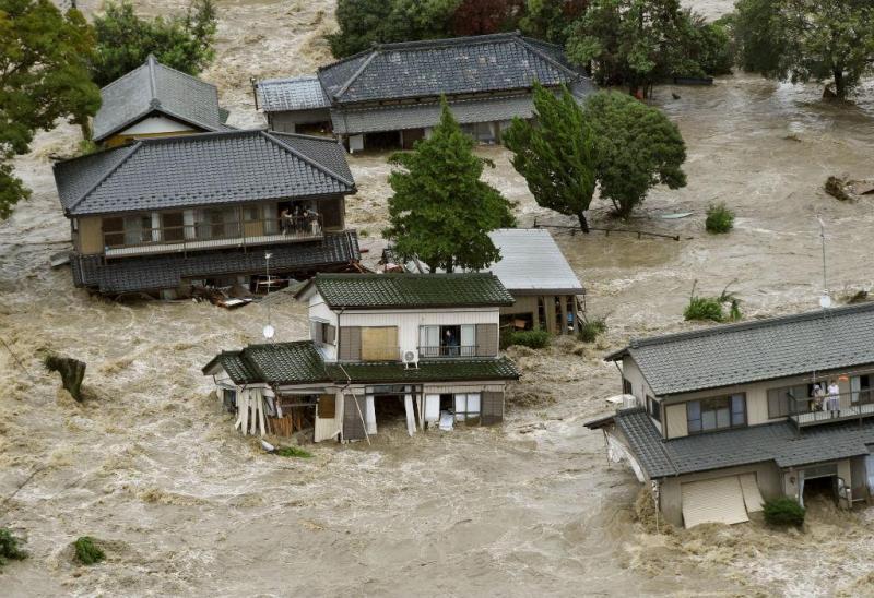 Cheias no Japão [Foto: Reuters]