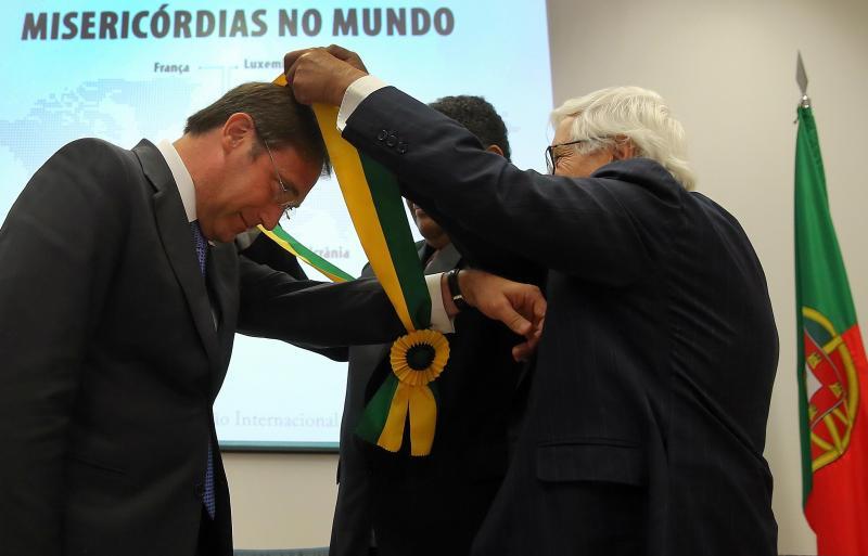 Passos Coelho condecorado pela Confederação Internacional das Misericórdias [Lusa]