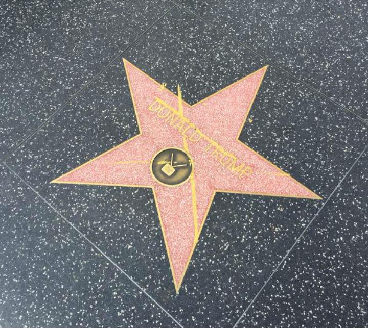 Estrela de Donald Trump foi vandalizada [Twitter]