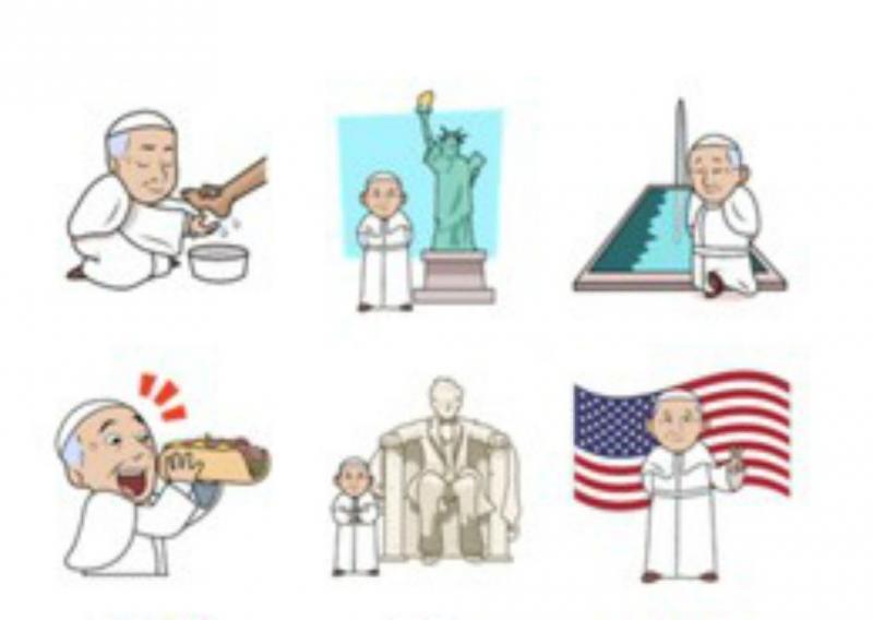 Papa Francisco inspira aplicações de emojis
