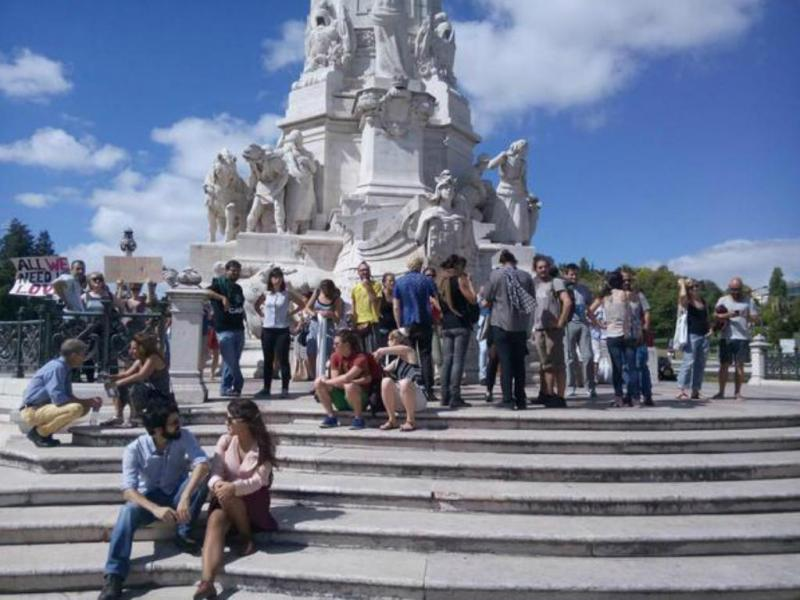Manifestação de apoio aos refugiados em Lisboa