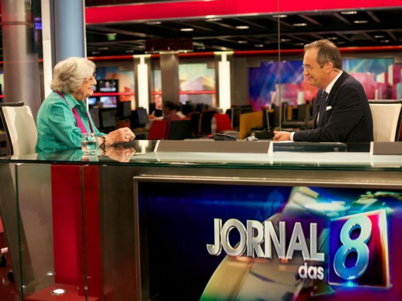 Eunice Muñoz no Jornal das 8 (Fotos Nuno Pereira/TVI)