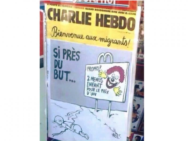 Charlie Hebdo caricatura morte de criança síria