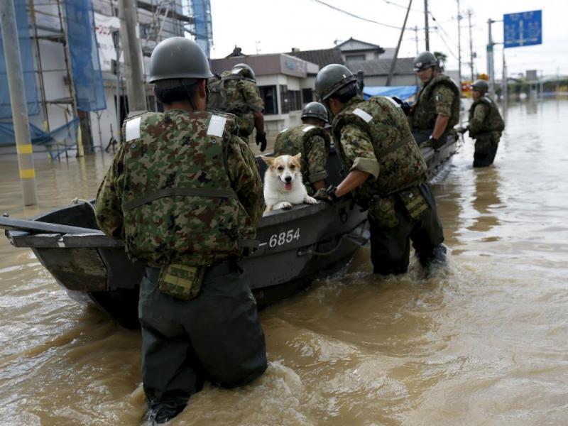 Inundações no Japão (Issei Kato/Reuters)