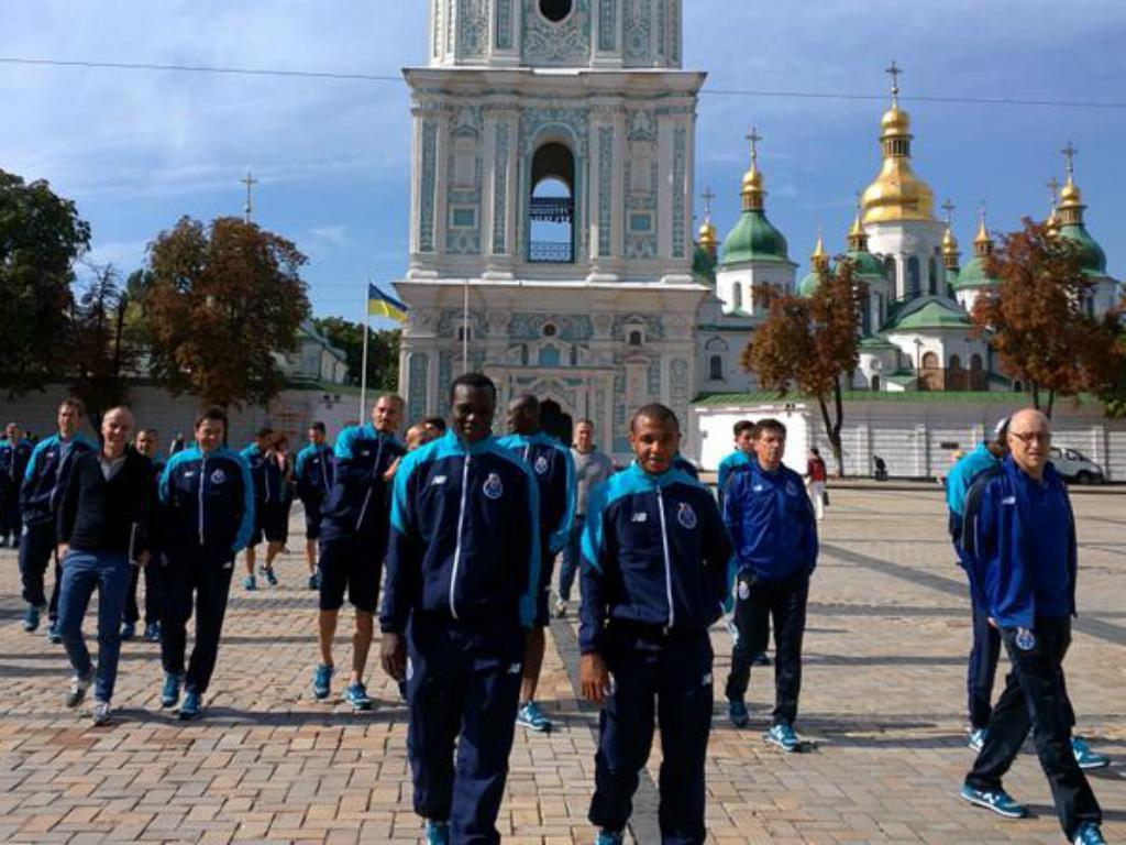 Dragões em Kiev (Foto: FC Porto)