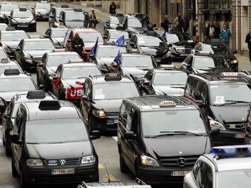 Marcha lenta contra a Uber