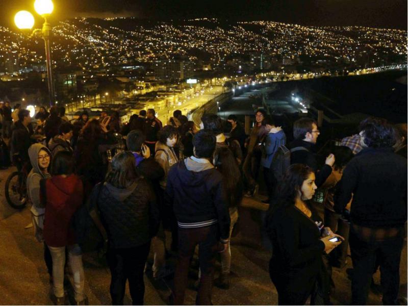Sismo no Chile (EPA)