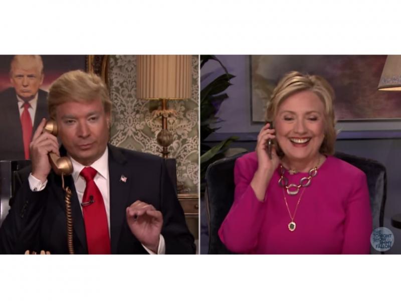 Hillary Clinton é entrevistada por Donald Trump