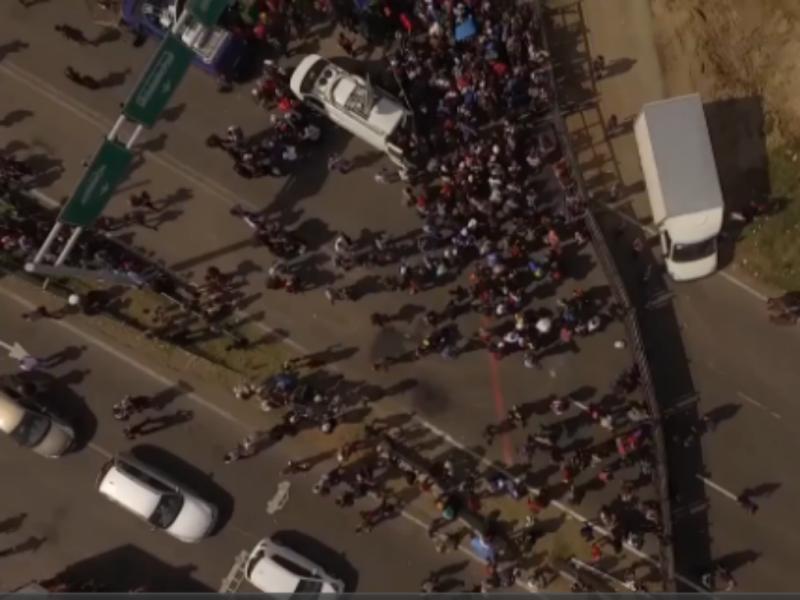 Drone capta imagens da crise de refugiados na Hungria