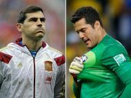 Iker Casillas e Júlio César