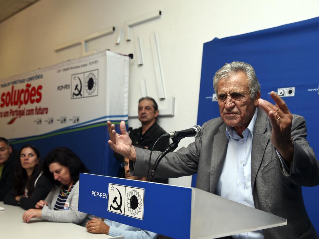 Jerónimo de Sousa em Águeda (Paulo Novais/Lusa)