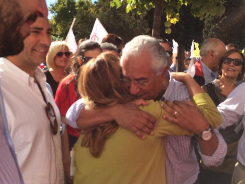 António Costa em campanha, em Alvalade [Vanessa Cruz]