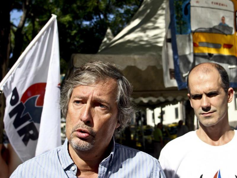 José Pinto-Coelho e Álvaro Araújo (PNR) -(Homem de Gouveia/Lusa)