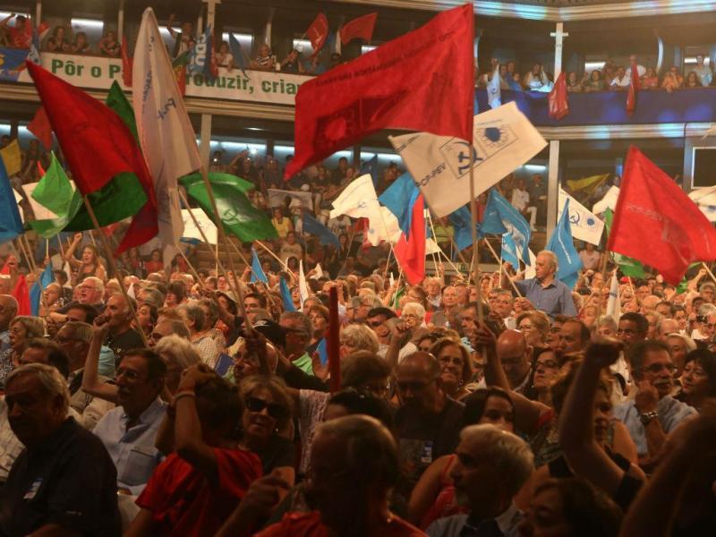 Campanha da CDU no Coliseu dos Recreios, em Lisboa (Manuel de Almeida/Lusa)