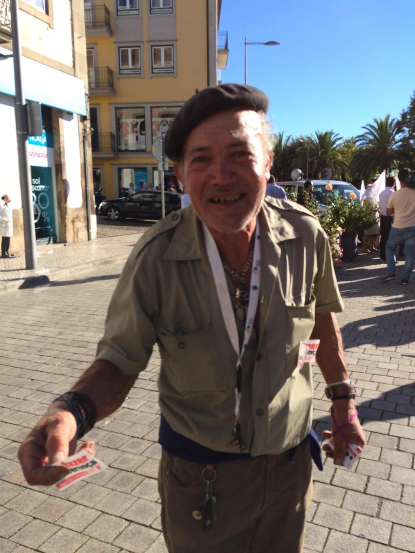 O militante do Bloco que afinal não o era na campanha de Costa [Vanessa Cruz]