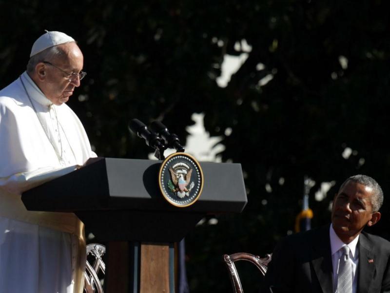 Papa Francisco visita a Casa Branca [EPA]