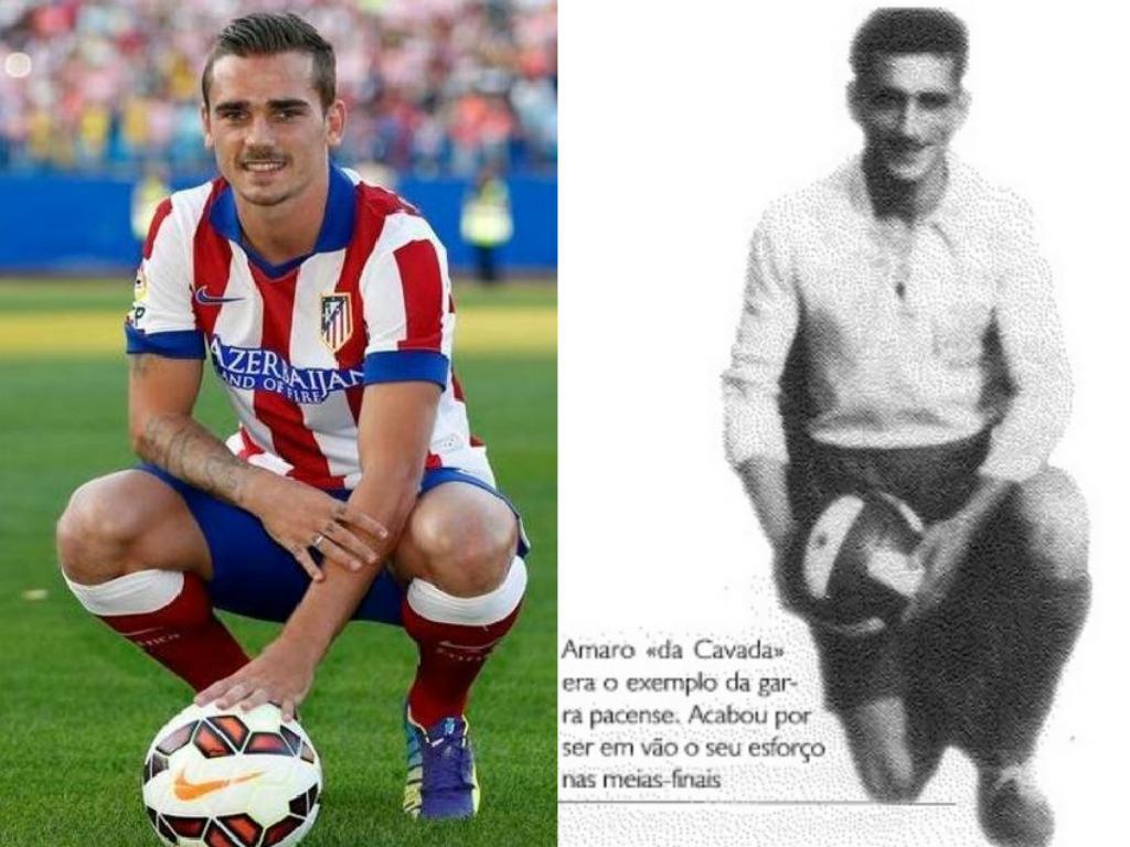 Antoine Griezmann e o avô Amaro da Cavada