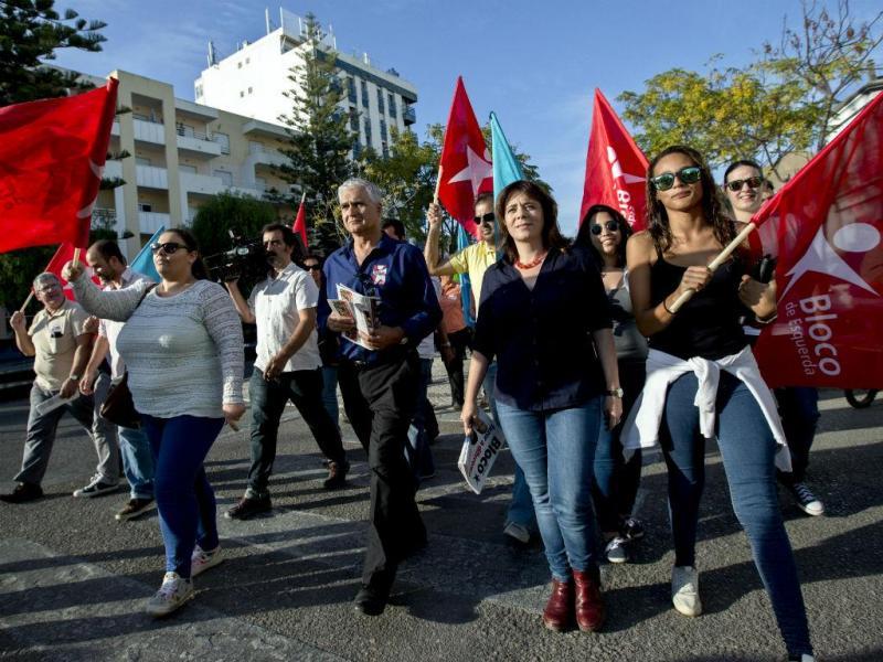Arruada do Bloco de Esquerda em Olhão (FILIPE FARINHA/LUSA)