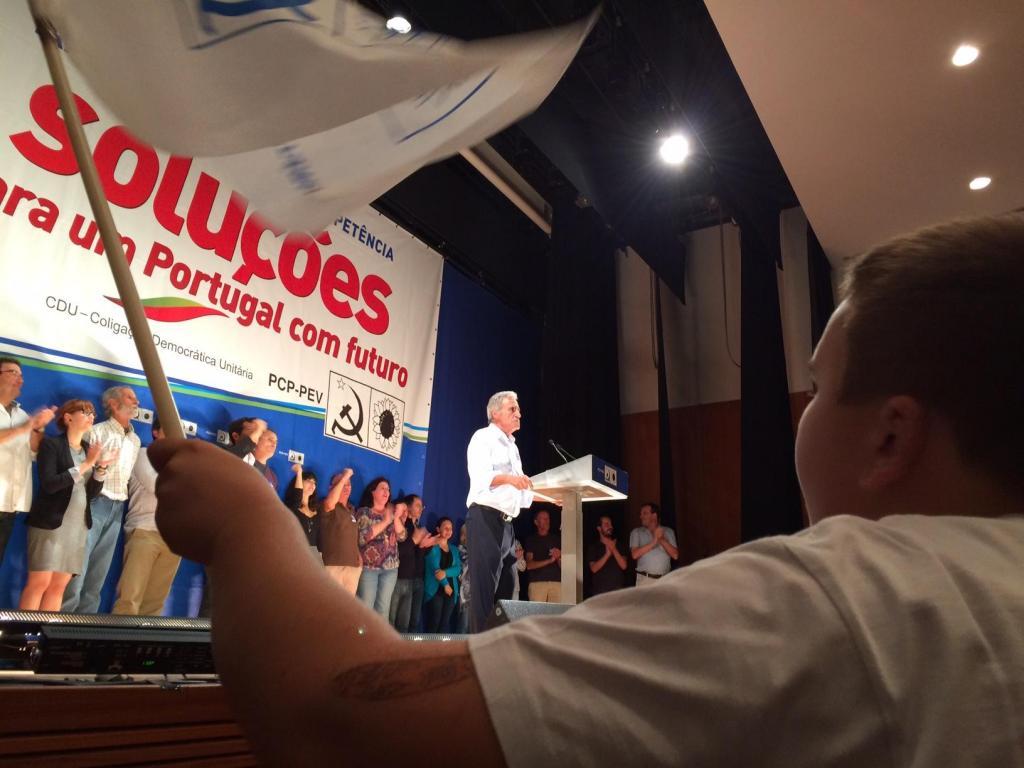 Comício da CDU na Feira (Hugo Beleza)