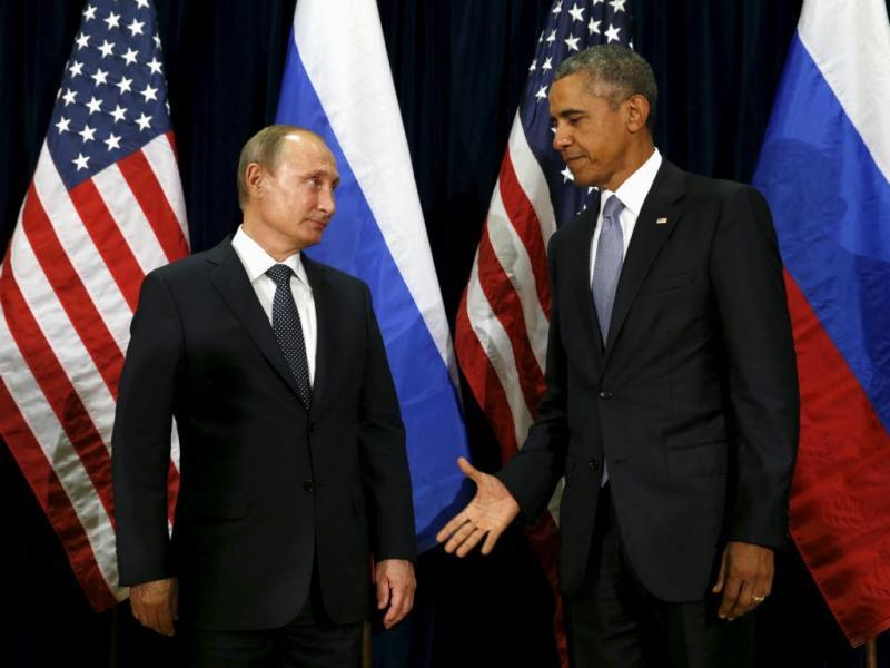 Barack Obama e Vladimir Putin na Assembleia Geral da ONU (28/9/2015)