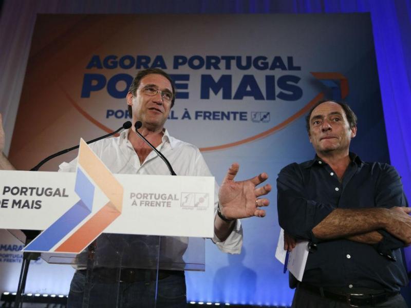 Comício da coligação Portugal à Frente em Viseu (MIGUEL A. LOPES/ LUSA)