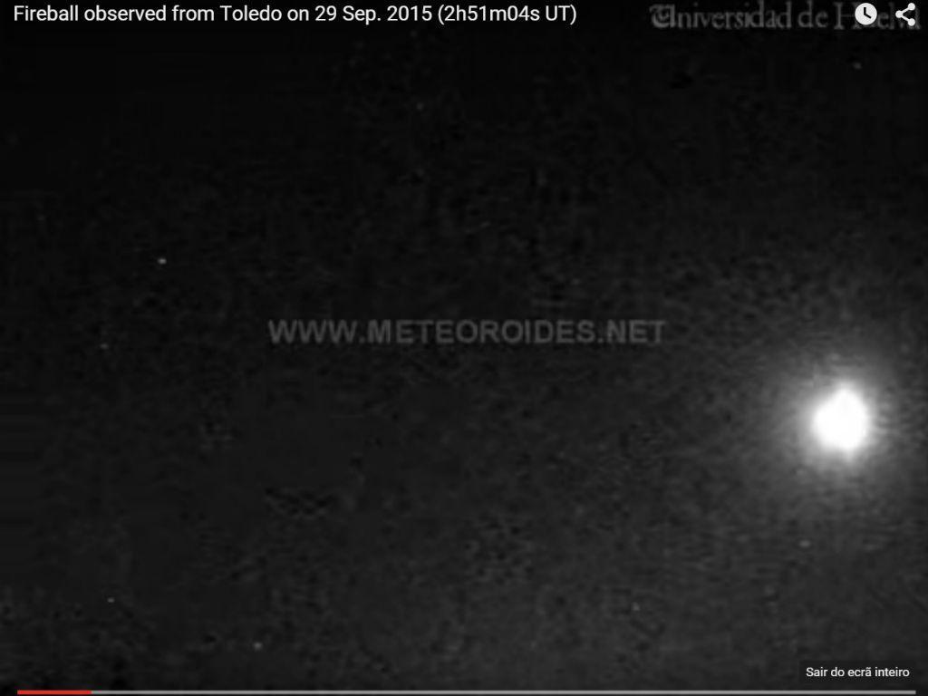 Fragmento de cometa sobrevoou Portugal e Espanha