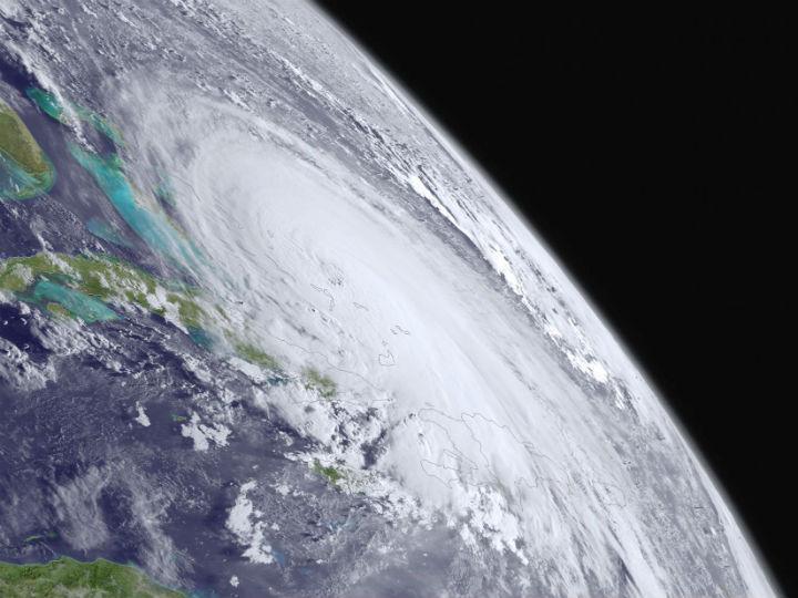 Imagem de satélite do furacão