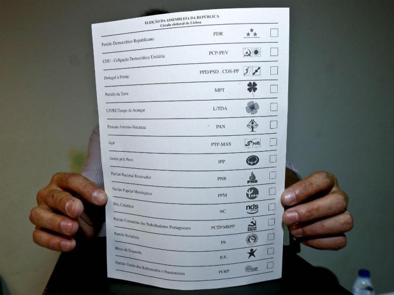 Legislativas 2015: boletim de voto