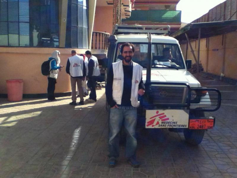 Luciano Pereira em Kunduz, no Afeganistão