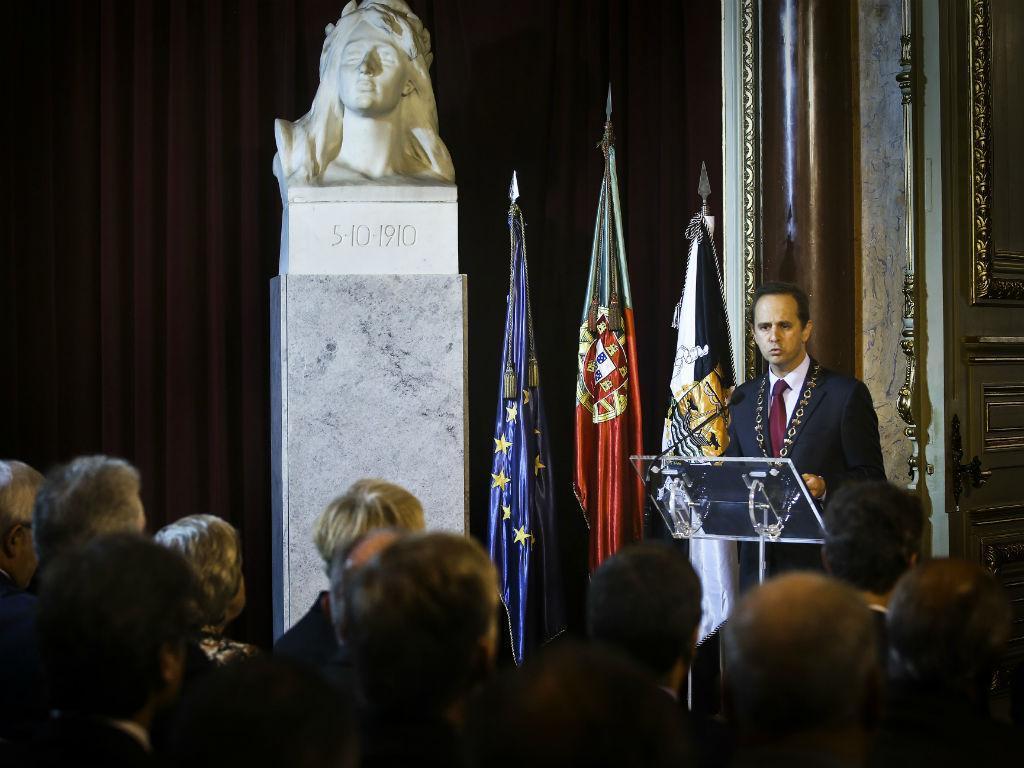 Comemorações do 5 de outubro na Câmara Municipal de Lisboa (LUSA)