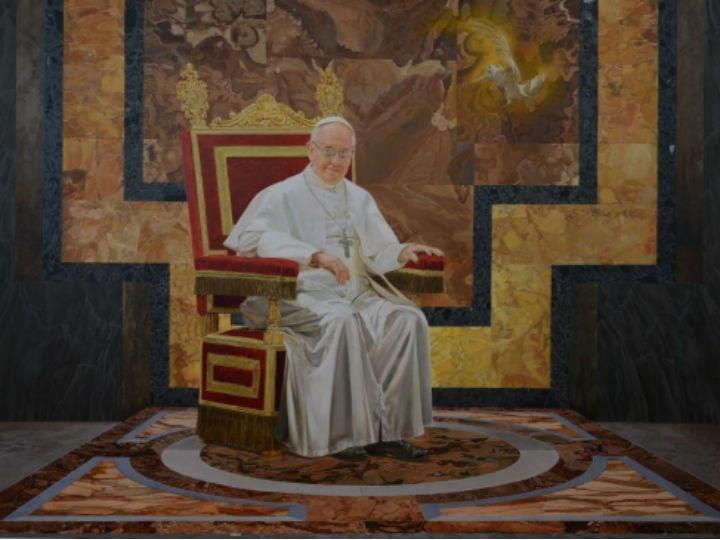 Quadro de Oscar Casares oferecido ao Papa Francisco (site oficial do pintor)