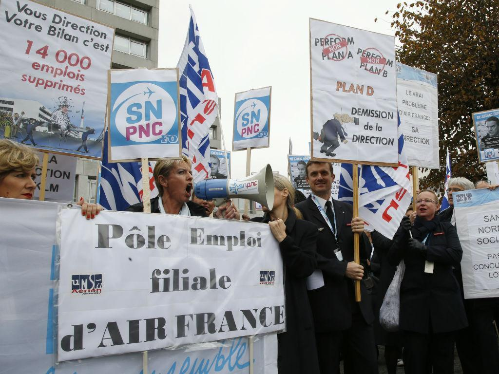 Manifestação de funcionários da Air France [Reuters]