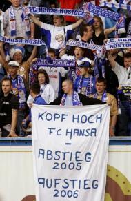 A descida do Hansa Rostock em 2005