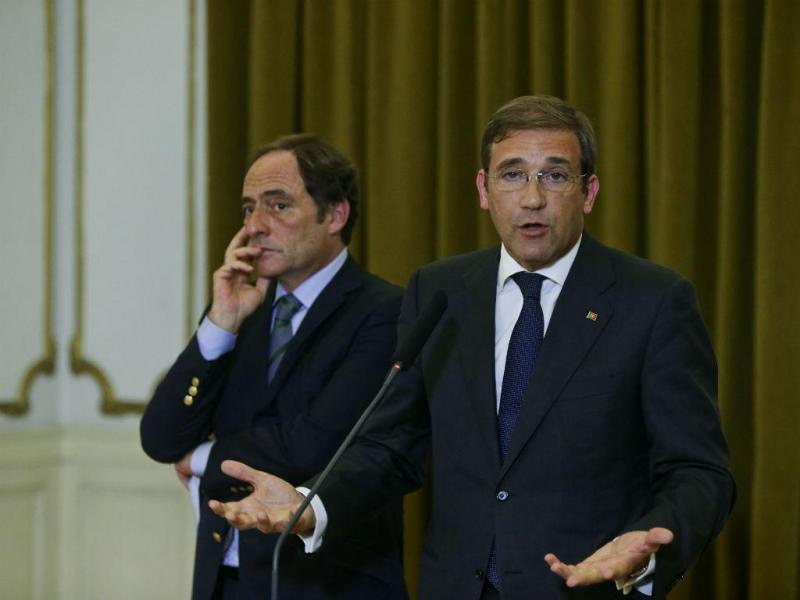 Passos Coelho e Paulo Portas à saída da segunda reunião com António Costa [João Relvas\Lusa]