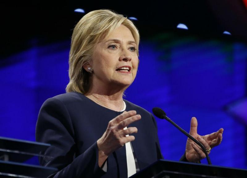 Hillary Clinton no primeiro debate dos democratas rumo às Presidenciais [Foto: Reuters]