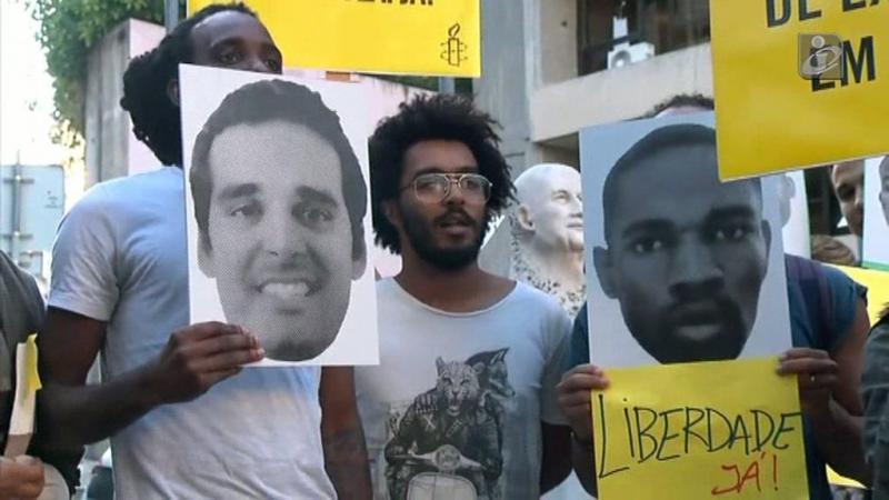 Vigília em Lisboa dá a cara pelas caras dos presos políticos em Angola